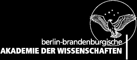 Das Logo der Berlin-Brandenburgischen Akademie der Wissenschaften zeigt den Schriftzug neben einem Adler vor einem Sternenhimmel